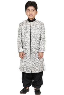 black-jacquard-sherwani-set