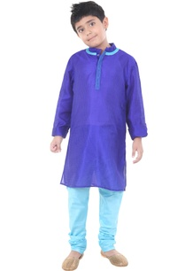 blue-sky-blue-silk-solid-kurta-with-chudidar