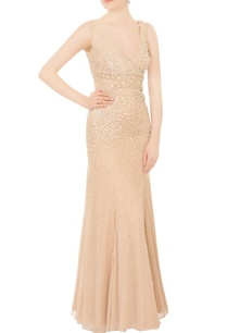 champagne-beige-hand-embroidered-pearl-sequin-gown
