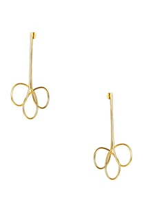 gold-plated-intertwined-earrings