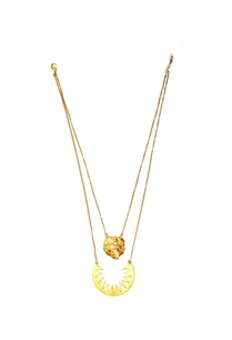 gold-plated-double-chain-spiky-necklace