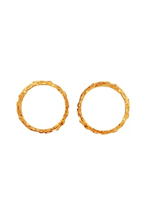 gold-brushed-effect-set-of-two-bangles