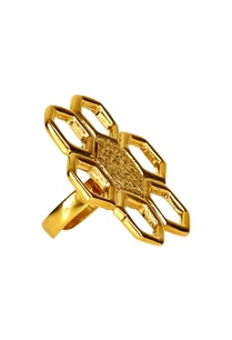 gold-plated-floral-motif-ring