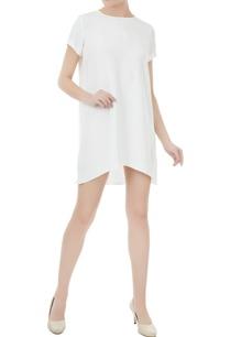 white-crepe-silk-short-dress