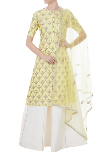nude-yellow-white-chanderi-tafetta-net-hand-crafted-nakshi-white-pearl-mirror-work-kurta-with-palazzos-dupatta