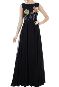 black-georgette-organza-crepe-hand-crafted-colorful-sequin-bead-work-jumpsuit