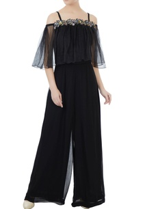 black-crepe-georgette-organza-hand-crafted-colorful-sequin-bead-work-nakshi-jumpsuit
