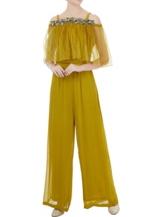 sulphur-yellow-crepe-georgette-organza-hand-crafted-colorful-sequin-bead-work-nakshi-jumpsuit