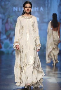 ivory-crepe-bibi-badal-foil-print-tunic-with-pleated-asymmtric-skirt