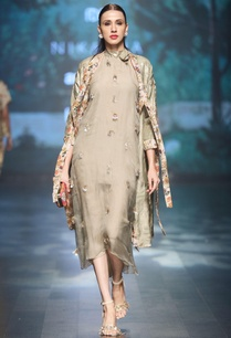 grey-silk-organza-printed-jacket-with-asymmetric-dress