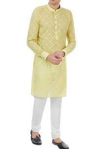 yellow-cotton-silk-geometric-motif-kurta