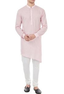 pastel-pink-check-pattern-kurta