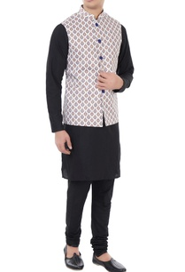 white-blue-ethnic-printed-nehru-jacket