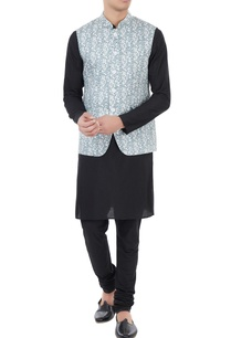 white-blue-jaal-printed-nehru-jacket