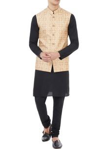 beige-floral-printed-nehru-jacket