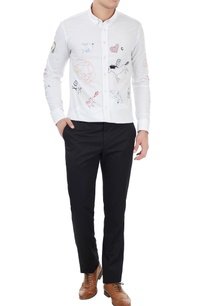 white-cotton-flock-embroidered-shirt