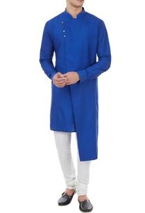 royal-blue-spun-silk-kurta