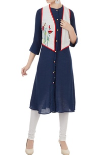navy-blue-button-down-kurta-with-jacket