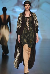 black-olive-printed-front-open-jersey-cape