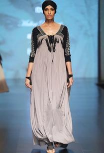 black-grey-ombre-cowl-style-kaftan