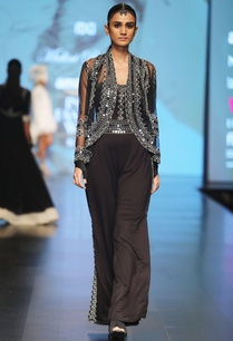 black-embellished-net-cape