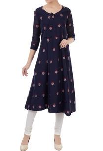 navy-blue-cotton-jamdani-ladybug-weave-tunic