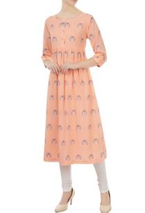 tangerine-cotton-jamdani-ladybug-weave-tunic