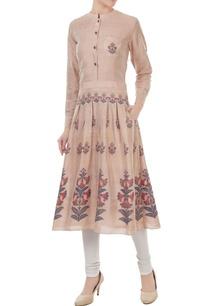 mauve-silk-jamdani-floral-weave-tunic