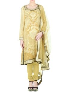 beige-silk-dori-tiki-embroidered-kurta-with-churidar-dupatta