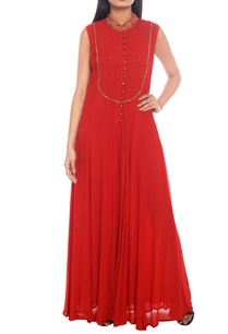 red-orange-viscose-blend-pin-tuck-jumpsuit