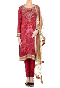 rose-pink-silk-blend-ari-embroidery-straight-kurta-with-churidar-dupatta