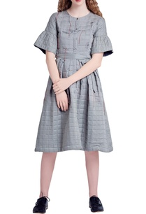 grey-quilted-embroidered-dress