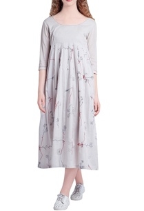 beige-pleated-bleeding-roots-embroidery-dress