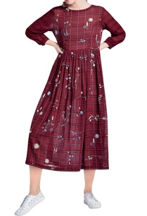marsala-floral-hand-embroidered-eucalyptus-dress