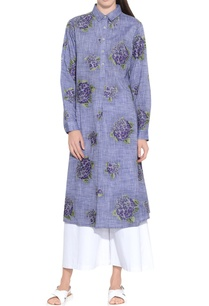 melange-blue-chambray-cotton-embroidered-tunic