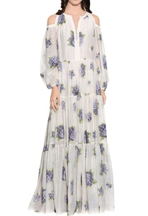 ecru-cotton-silk-embroidered-dress