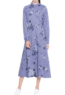 melange-blue-chambray-cotton-embroidered-dress