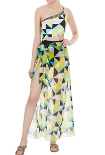yellow-georgette-graphic-print-sarong-skirt