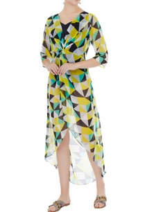 yellow-georgette-graphic-print-cape