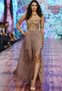 brown-chiffon-sequin-gown-with-long-trail