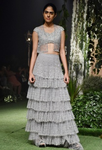 grey-tulle-embroidered-tiered-skirt