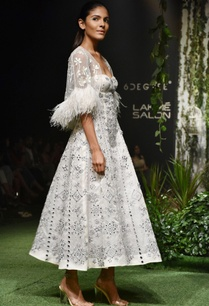ivory-tulle-feather-mirror-work-cape