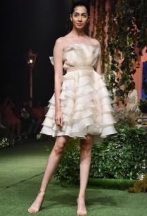 pale-nude-ruffles-mini-dress
