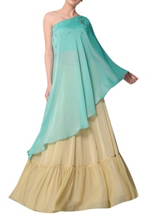 aquamarine-one-shoulder-blouse-with-flared-skirt