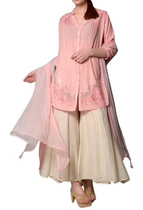 blush-pink-eucalyptus-fabric-high-low-kurta