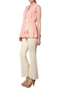 peach-cotton-dobby-sleeveless-blouse