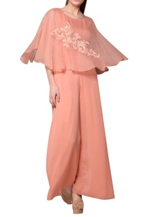 peach-kota-silk-chiffon-cape-jumpsuit