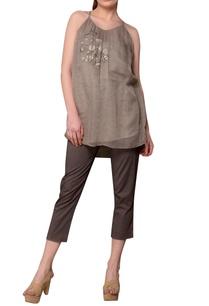 grey-spaghetti-strap-kota-blouse