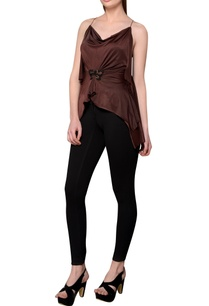 burgundy-spaghetti-strap-halter-blouse