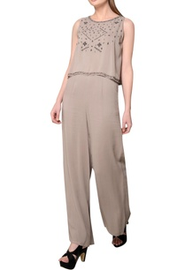grey-embroidered-georgette-jumpsuit